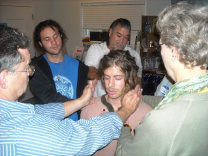 Reiki Ranch Students practice energy healing