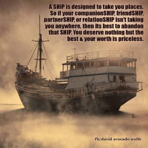 Your ship is coming in full of dreams manifested